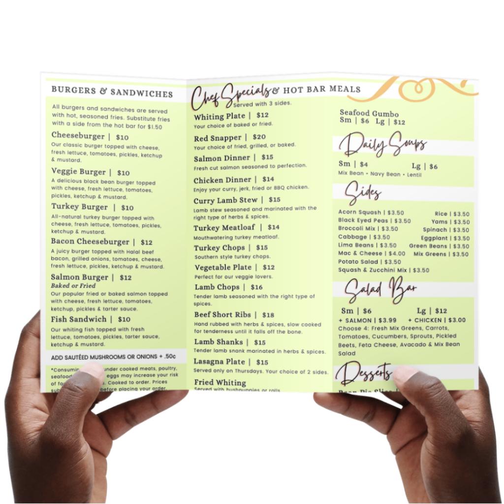 Print Marketing : SpringGreens Restaurant
