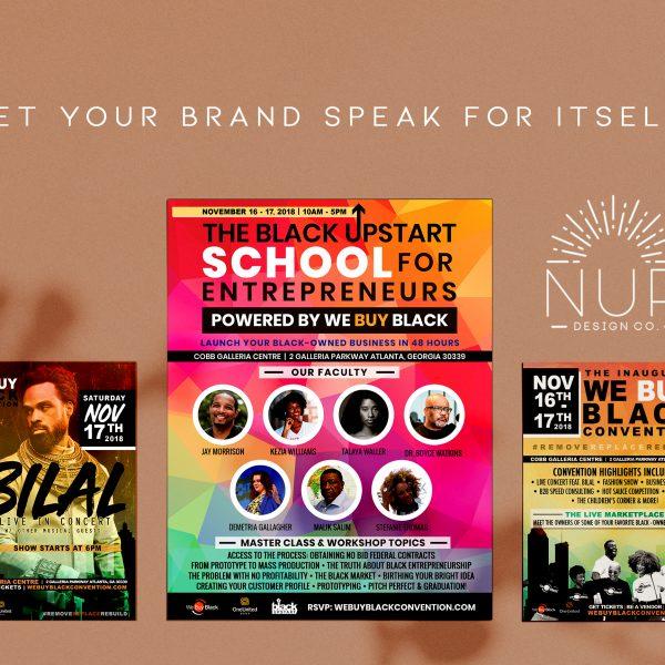 Print Marketing : We Buy Black Convention