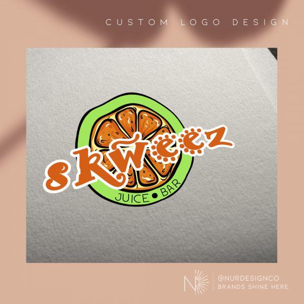 Logo Design : Skweez Juice Bar